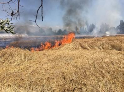 Sivas'ta Buğday Tarlasında Yangın