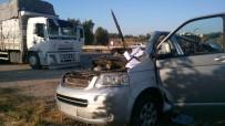 KıZıLAĞAÇ - Antalya'da 2 Ayrı Trafik Kazasında 3 Kişi Yaralandı