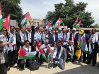 ULUSLARARASI ÇALIŞMA ÖRGÜTÜ - HAK-İŞ'ten BM Önünde İsrail'i Protesto