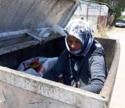 YAŞLI KADIN - Yaşlı kadını çöp kutusunda gören ne yapacağını şaşırdı