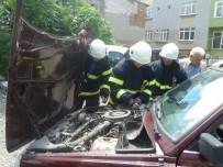 PATLAMA SESİ - LPG'li Araçta Korkutan Patlama