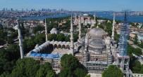 SULTANAHMET CAMII - Sultanahmet Cami'nde Dev Restorasyon Havadan Görüntülendi