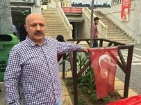 ORTAHISAR - Trabzon'da Türk Bayrağını Alıp Yere Atan Şahıs Güvenlik Kameralarına Yansıdı
