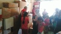 Kulp Kızılay Şubesi İhtiyaç Sahibi Ailelere Yardım Etti