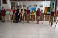 KARABIGA - Biga´Da Ortaokul Öğrencileri Resim Sergisi Açtı