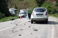 Tünel Çıkışı Cip İle Motosiklet Çarpıştı Açıklaması 2 Yaralı