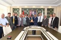 TÜRKIYE GAZETECILER FEDERASYONU - Türkiye Gazeteciler Federasyonu Yönetimi Vali Kalkancı'yla Bir Araya Geldi