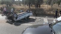 Araç Takla Atarak Karşı Şeride Geçti Açıklaması 5 Yaralı