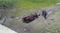 Göle'de Otomobil Şarampole Devrildi Açıklaması 1 Ölü, 2 Yaralı