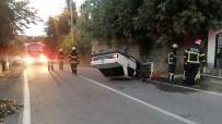DEĞIRMENDERE - Takla attı doğalgaz borusunu patlattı