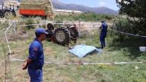 Burdur'da Traktör Devrildi  Açıklaması 2 Ölü
