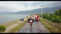 Bursa'da Devrilen Metil Alkol Yüklü Tanker Alev Aldı