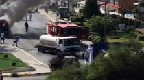KUZEY KIBRIS - KKTC'de Seyir Halindeki Minibüs Alev Alev Yandı
