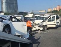 OKMEYDANI EĞİTİM VE ARAŞTIRMA HASTANESİ - TEM otoyolunda trafiği felç eden kaza!