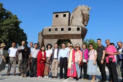 Çin'in Kültür Ve Turizm Bakanı Shugang'dan Troya Antik Kenti'ne Ziyaret