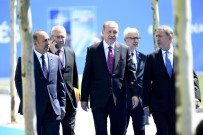BULGARİSTAN CUMHURBAŞKANI - Cumhurbaşkanı Erdoğan NATO Karargahına Geldi