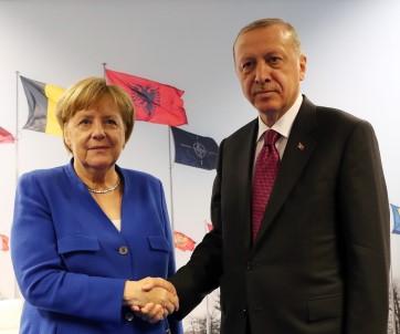 Erdoğan Almanya Başkanı Merkel İle Görüştü