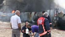 İTFAİYE ARACI - GÜNCELLEME - Malatya'da Dondurma Fabrikasında Yangın