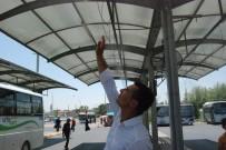 KARACADAĞ - Şanlıurfa'da Otobüs Durakları Ve Kafeler Fıskiyelerle Serinletiliyor