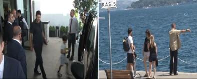 Shakira'nın çocukları ve ekibi İstanbul turunda