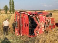 Yangınla Mücadele Aracı Kaza Yaptı Açıklaması 1 Yaralı