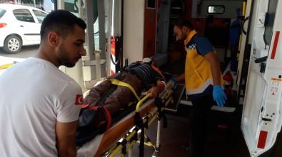 Cam Blokların Altında Kalan İşçi Ağır Yaralandı