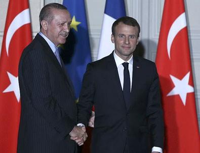 Erdoğan'ın Macron ile görüşmesi başladı