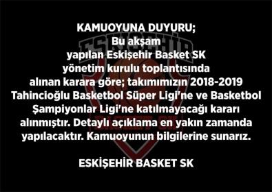 Eskişehir Basket, Ligden Ve Şampiyonlar Ligi'nden Çekildi