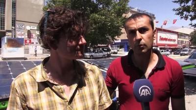 Güneş Enerjili Bisikletle Fransa'dan Erzincan'a Geldiler