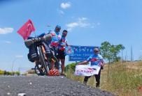 GÜMÜŞSU - Sökeli Bisikletçiler Çocuklar İçin 900 Kilometre Pedal Çevirdi