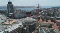 KATOLIK - Taksim Camii'nde Son Durum Havadan Görüntülendi