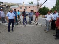 ERCAN ÖTER - Kağızman'da Köy İçi Yolları Parke Oluyor