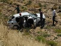 Tarlaya Giren Otomobildeki Karı Koca Yaralandı