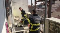 AKSARAY BELEDİYESİ - Tekstil Mağazasında Yangın Paniği