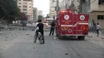 GAZZE - İHH'nın Gazze'deki Merkezi İsrail'in Saldırısında Zarar Gördü