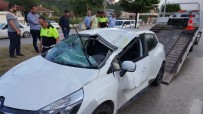 KONURALP - Otomobil Takla Attı Açıklaması 4 Yaralı