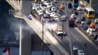 TİCARİ ARAÇ - Şehitler Köprüsü'nde Araç Yangını