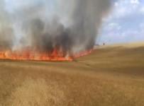 İTFAİYE ARACI - Sorgun'da Ekili Tarım Arazisinde Yangın Çıktı