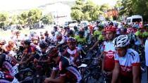 POLİS HELİKOPTERİ - 15 Temmuz Şehitlerini Anma Ulusal Bisiklet Yol Yarışı