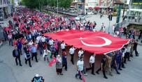 TÜRKIYE BÜYÜK MILLET MECLISI - Asker, Polis Ve Vatandaş El Ele Türk Bayrağını Taşıdı