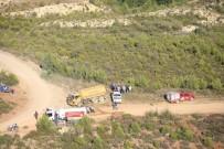 HELIKOPTER - Gülnar'daki Orman Yangınında Soğutma Çalışması Yapılıyor