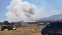 YENIKÖY - İzmir'de Orman Yangını