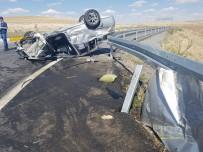 HELIKOPTER - Konya'da Otomobil Takla Attı Açıklaması 1 Ölü, 7 Yaralı