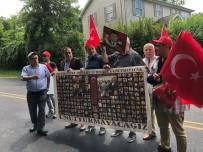 HELIKOPTER - Terörist başı Gülen malikanesinin önünde protesto