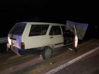 Çavdarhisar'da Trafik Kazası Açıklaması 1 Yaralı