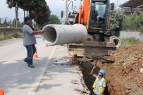 Dörtyol'da Yağmur Suyu Drenaj Hat Çalışması Yapıldı