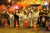 DEMOKRASİ NÖBETİ - Kahta'da Binlerce Kişi Meydanda Buluştu