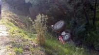 Traktör Şarampole Devrildi Açıklaması 1 Ölü