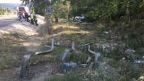 TİCARİ ARAÇ - Bilecik'te Ticari Araç Takla Attı Açıklaması 1 Yaralı