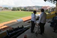 Fatsa İlçe Stadında Çalışmalar Devam Ediyor